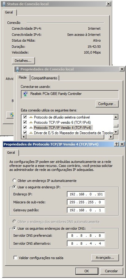Como configurar ou mudar o IP fixo