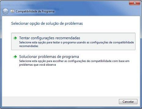Skype rodando em modo de compatibilidade