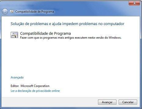 Executar programas criados para versões anteriores do Windows
