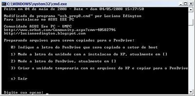 Como instalar Windows XP do pen drive